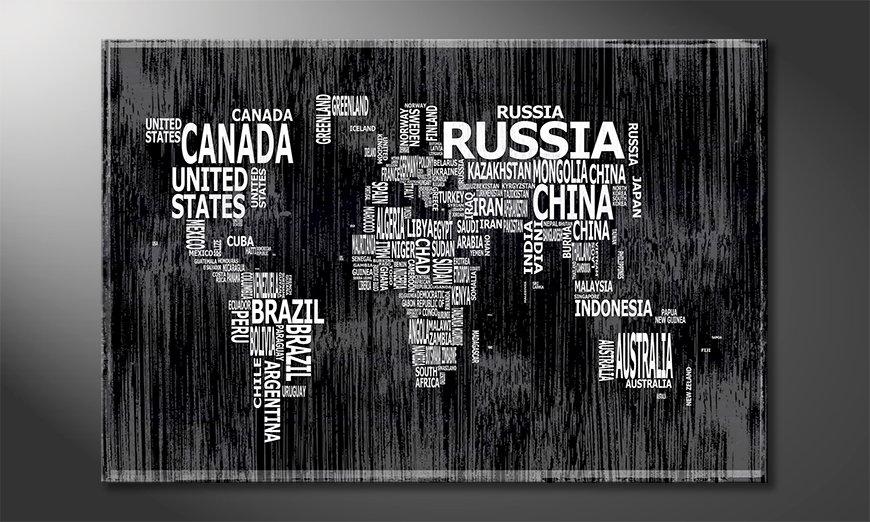 Le tableau mural Carte du Monde 13