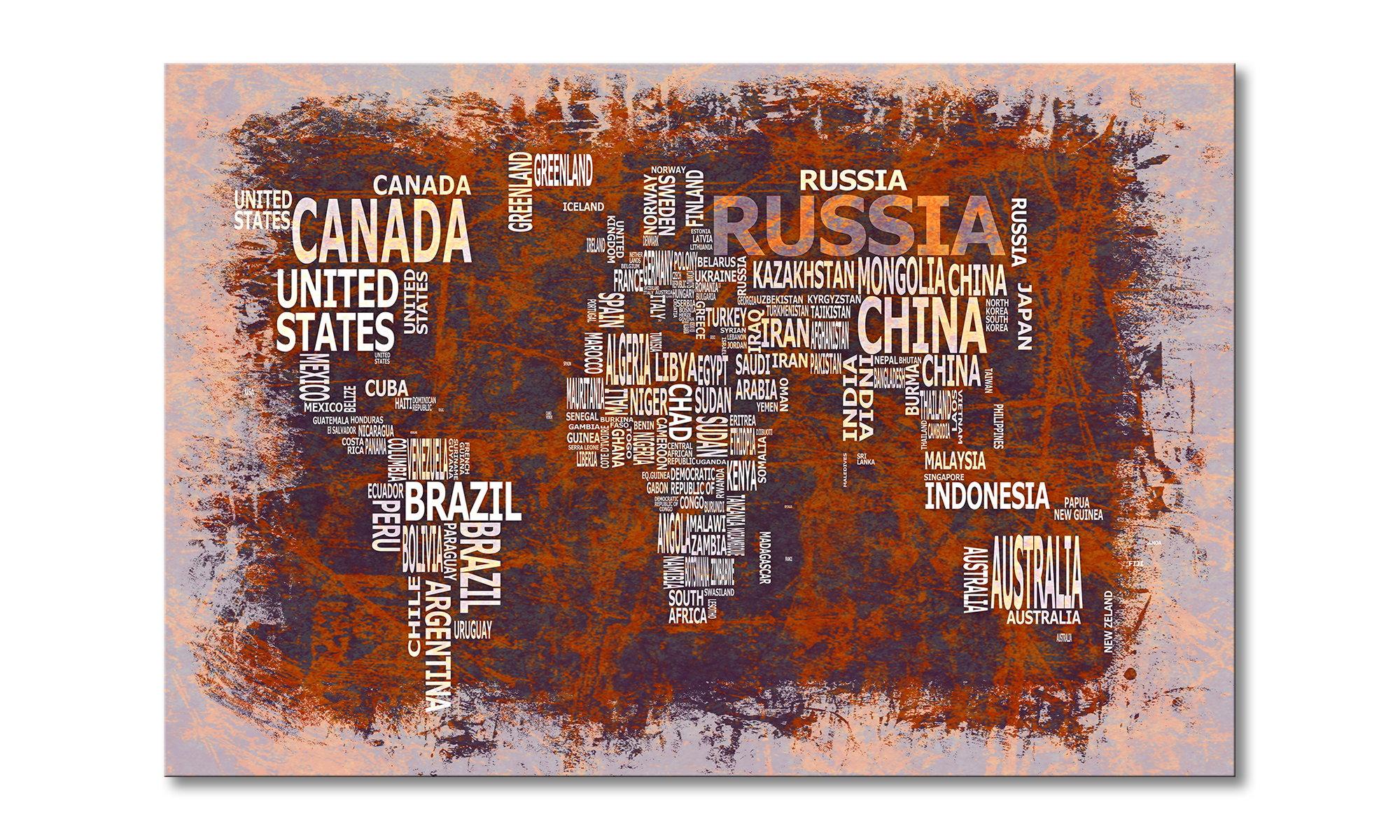 le tableau mural carte du monde 19 tableaux xxl. Black Bedroom Furniture Sets. Home Design Ideas