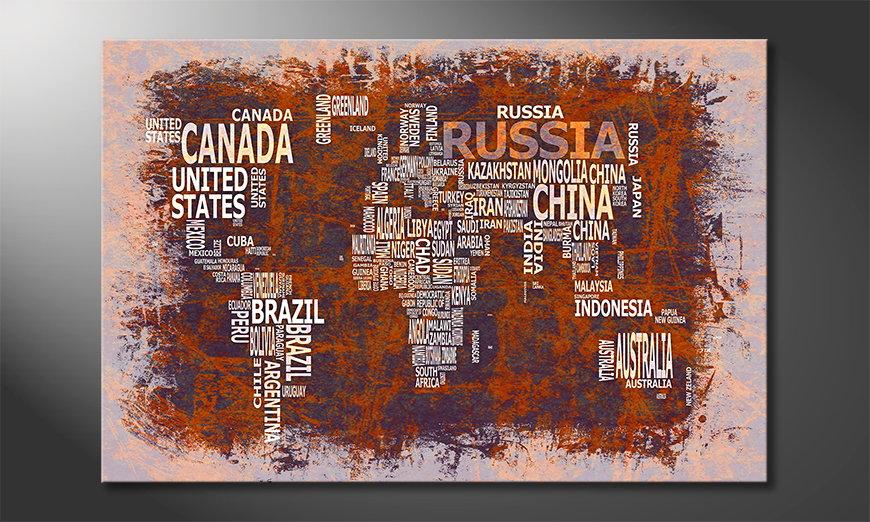 Le tableau mural Carte du Monde 19