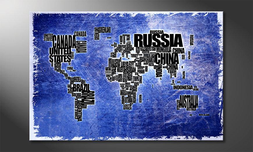 Le tableau mural Carte du Monde 2