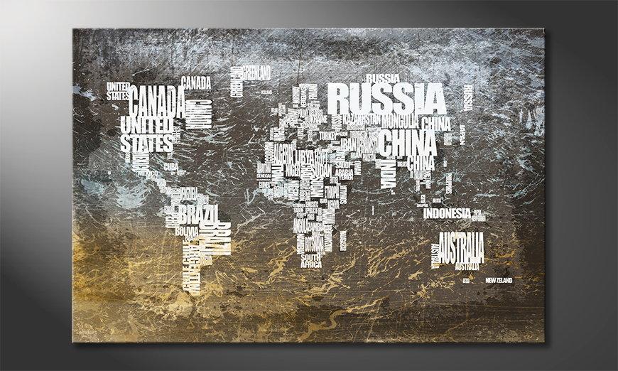Le tableau mural Carte du Monde 20