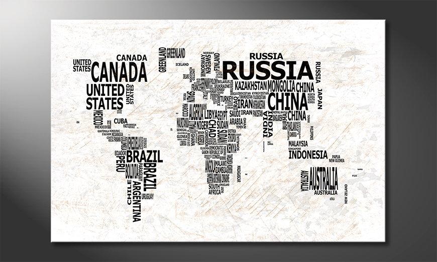 Le tableau mural Carte du Monde 21