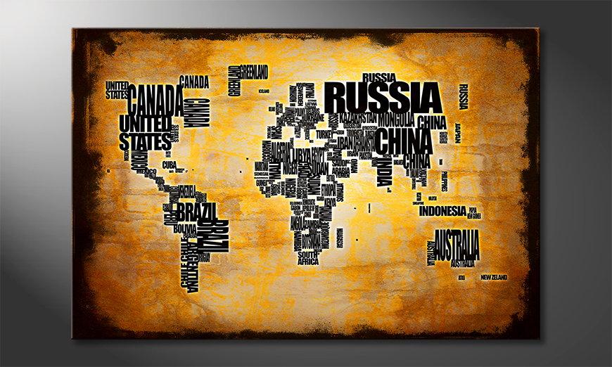 Le tableau mural Carte du Monde 5