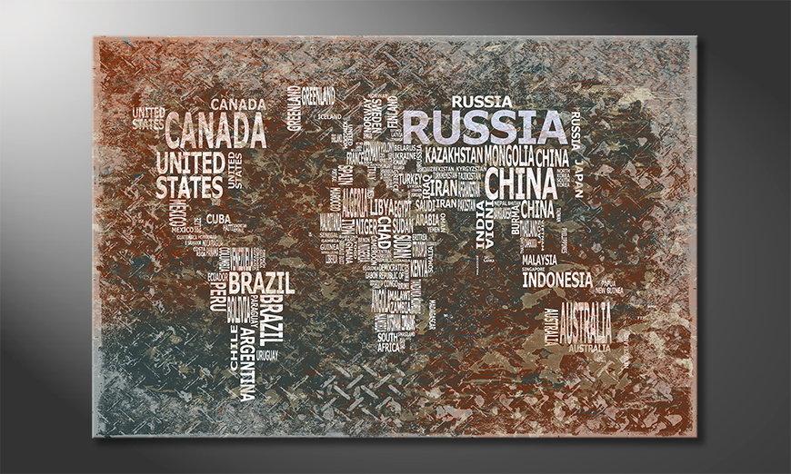 Le tableau mural Carte du Monde 8