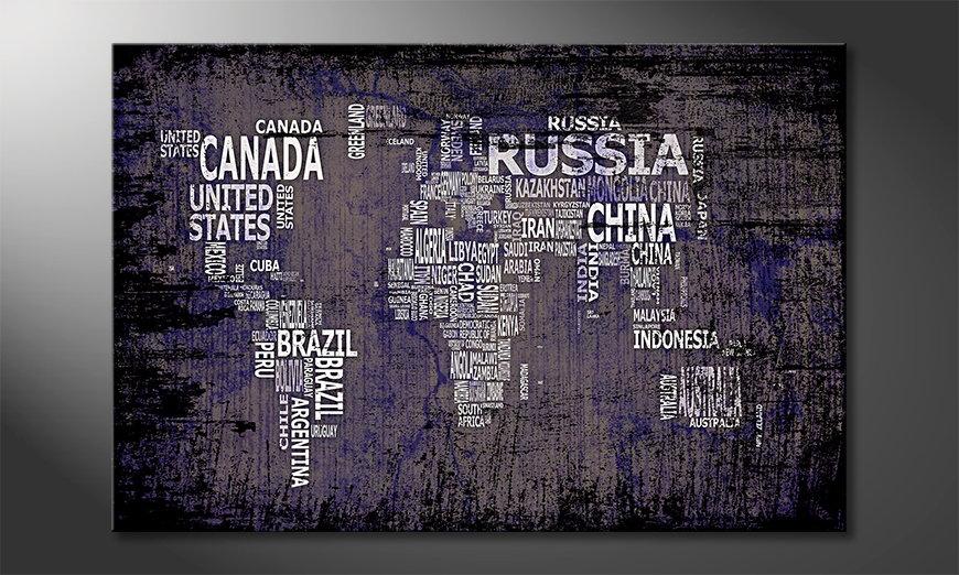 Le tableau mural Carte du Monde 9