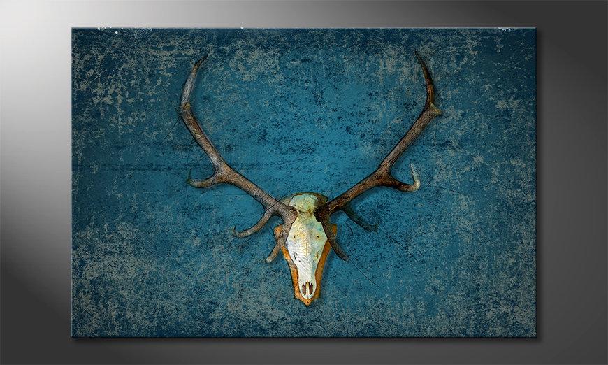Le tableau mural Deer Head