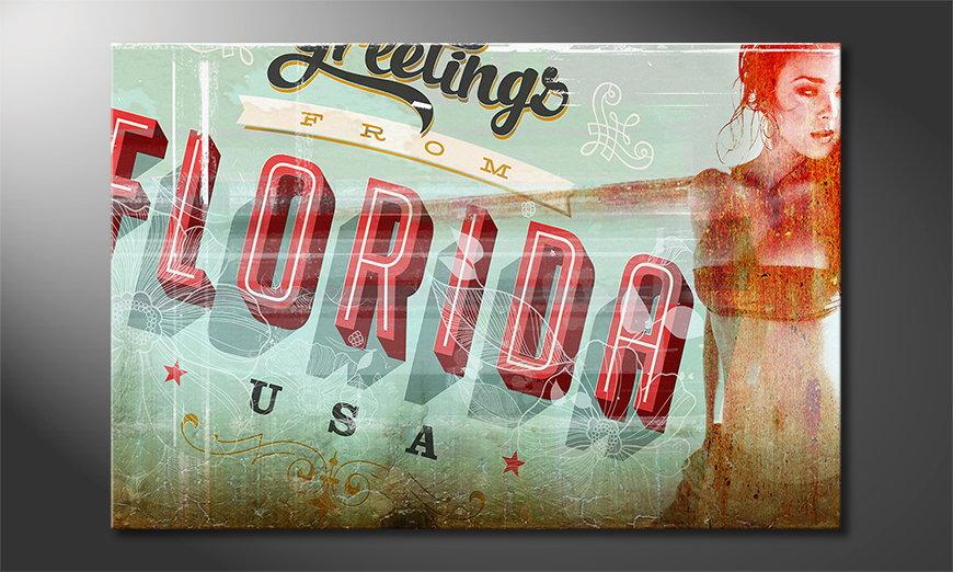 Le tableau mural Florida Girl