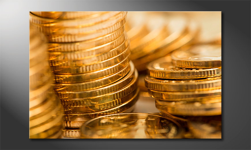 Le tableau mural Gold Coins