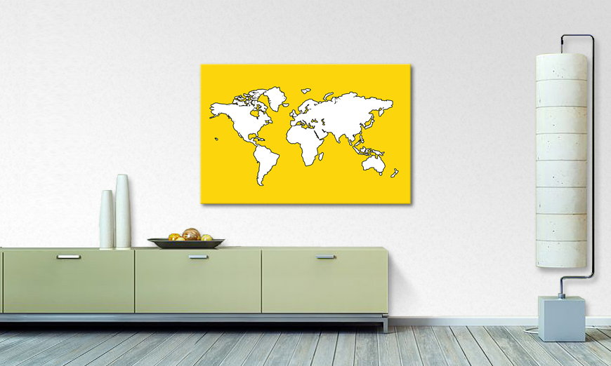 Le tableau mural Map of the World