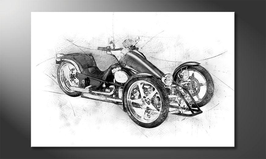 Le tableau mural Motorcycle Five