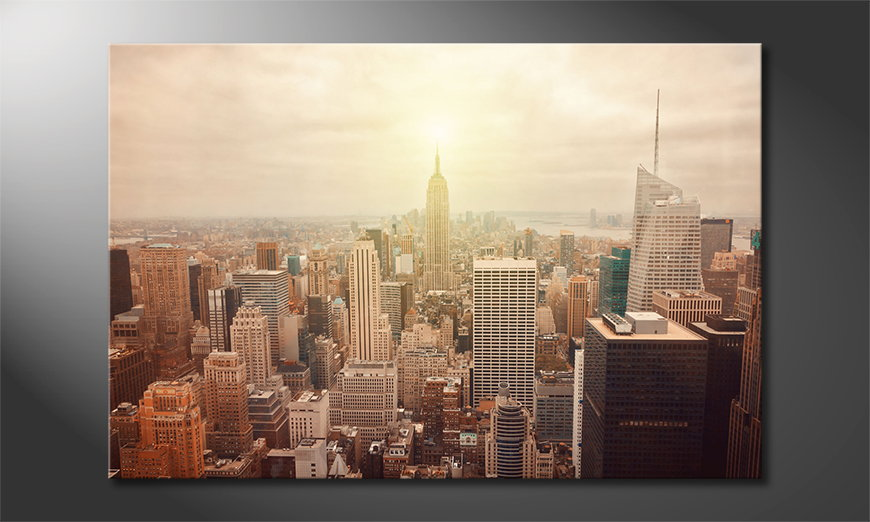 Le-tableau-mural-New-York-Retro