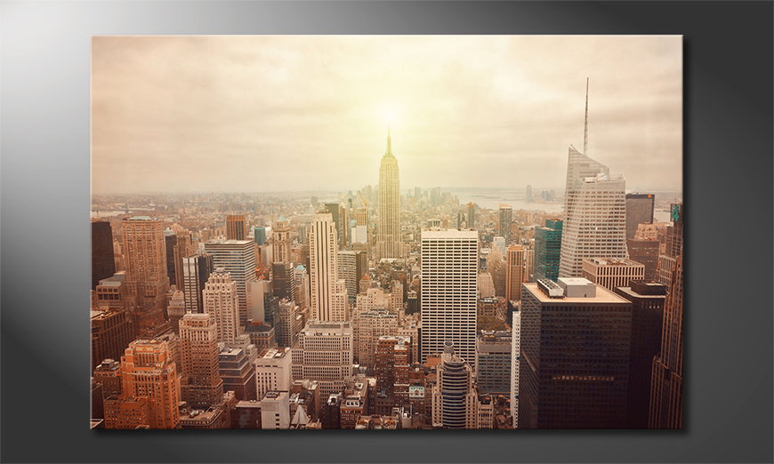 Le tableau mural New York Retro