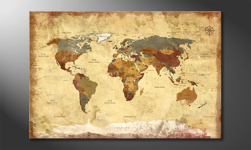 Le tableau mural Old Worldmap 4