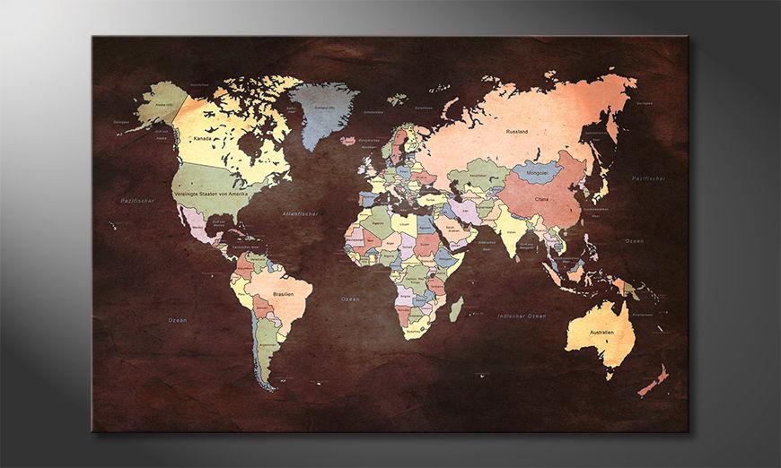 Le tableau mural Oldworldmap two