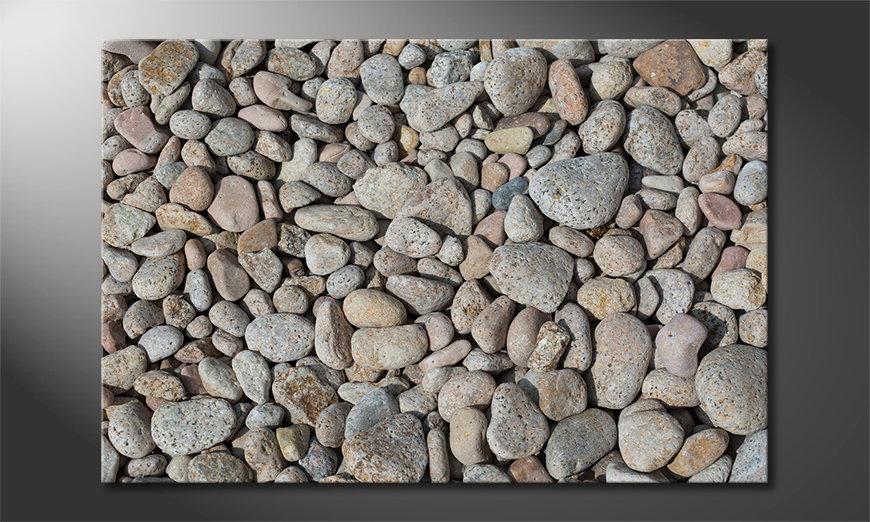 Le tableau mural Pebble Stones