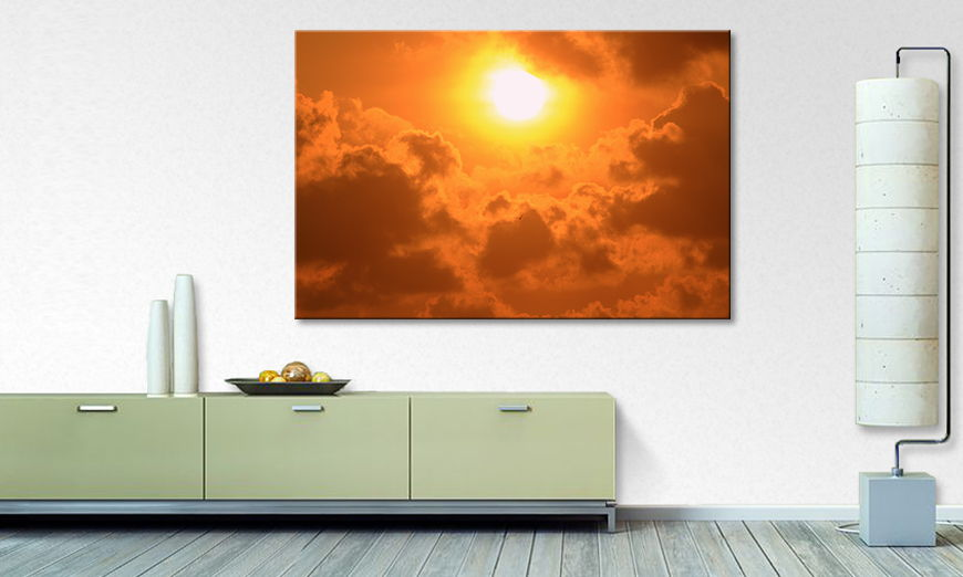 Le tableau mural Powerful Sun