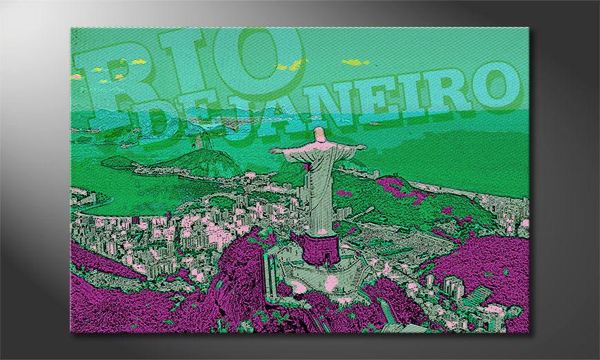 Le tableau mural Rio