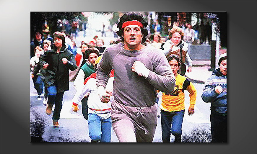 Le tableau mural Run Rocky Run