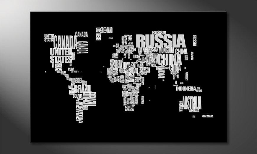 Le tableau mural Worldmap 14