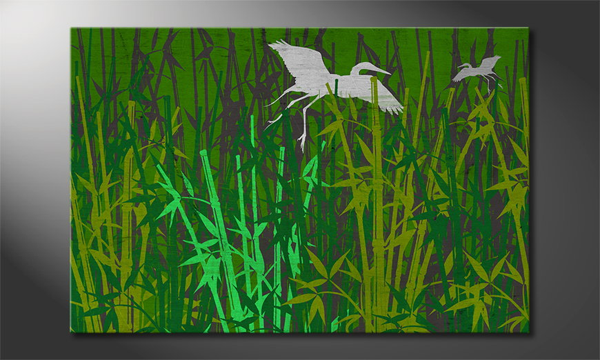 Le tableau mural imprimé Bamboo