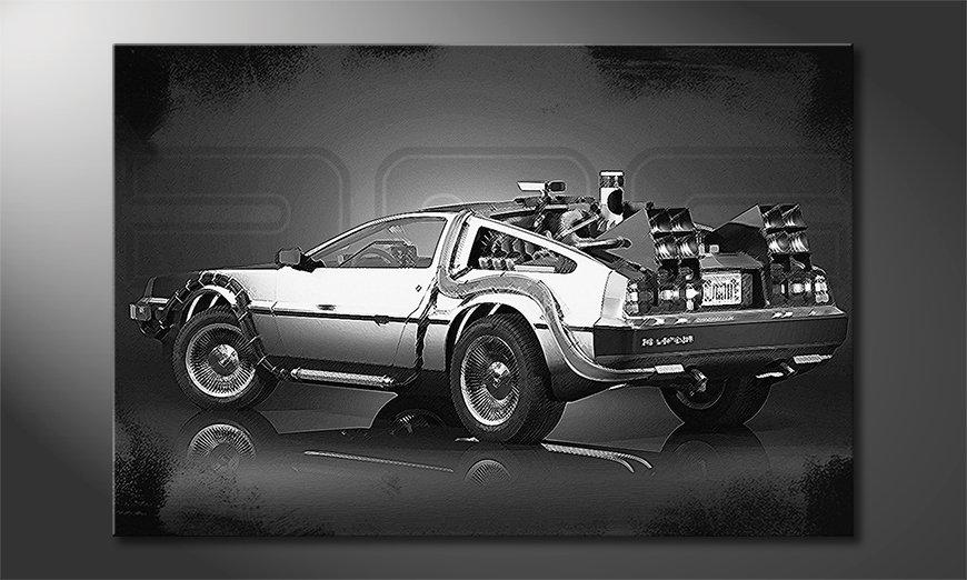 Le tableau stylé DeLorean