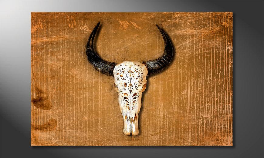 Les tableau imprimés Buffalo Head