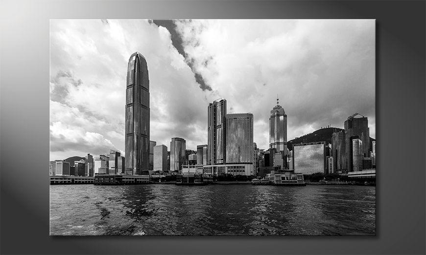 Les tableau imprimés Hongkong Skyline