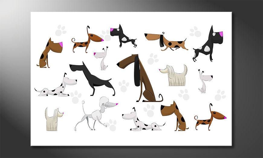 Les tableaux imprimés Cartoon Dogs