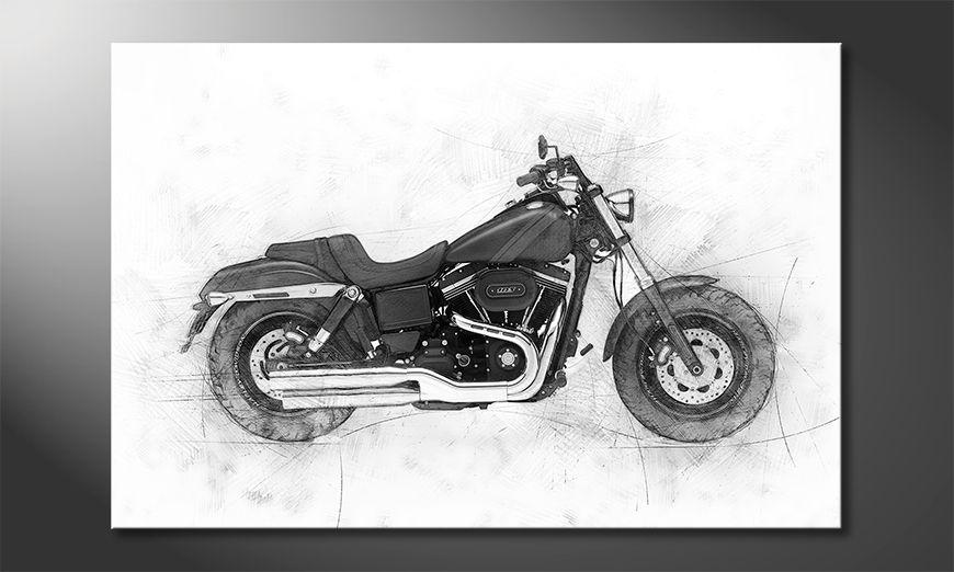 Les tableaux imprimés Motorbike Uno