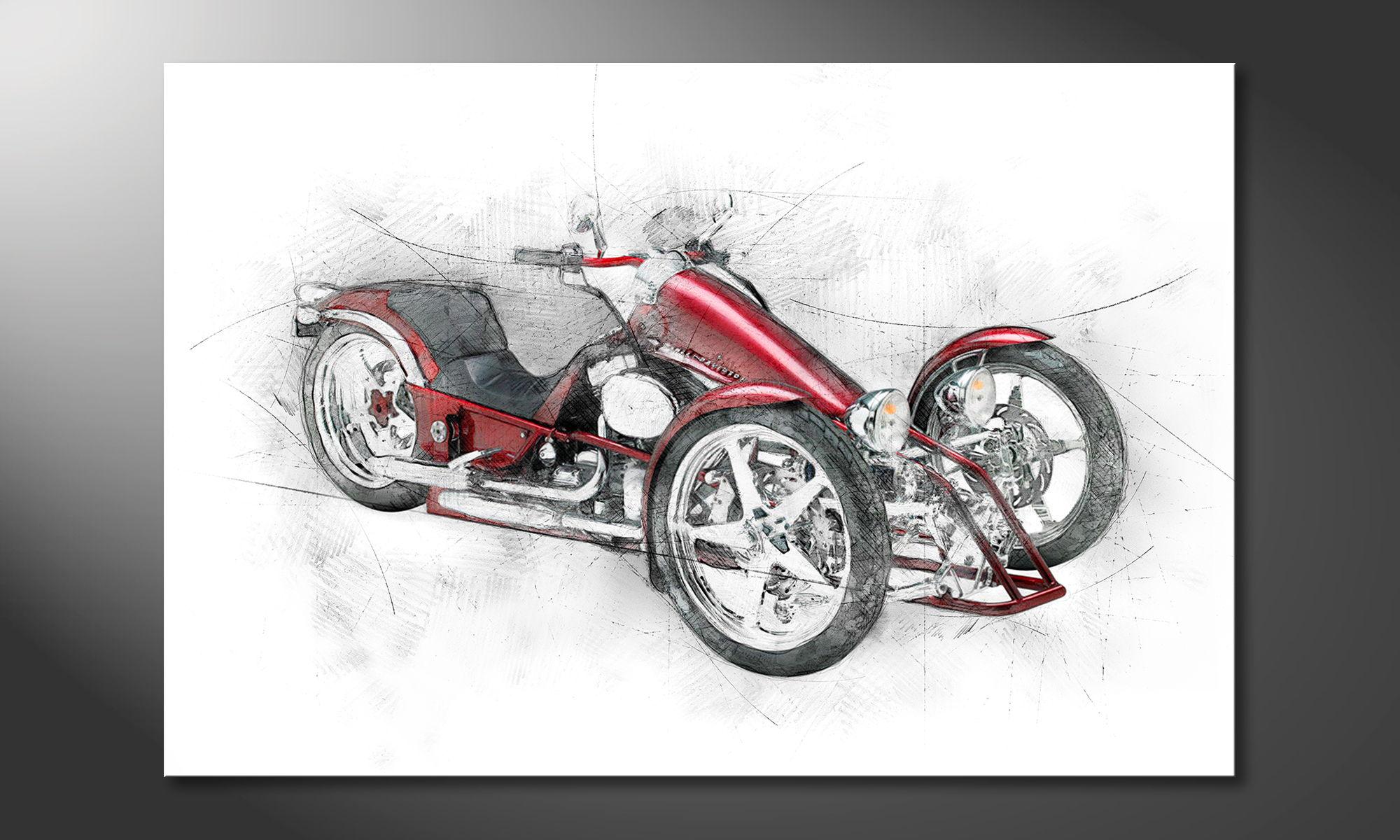limpression sur toile bike 8 tableaux xxl. Black Bedroom Furniture Sets. Home Design Ideas