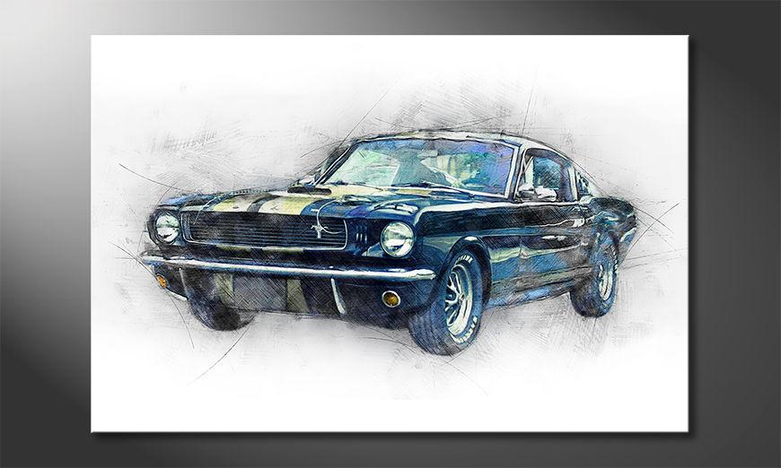 L'impression sur toile Black Mustang