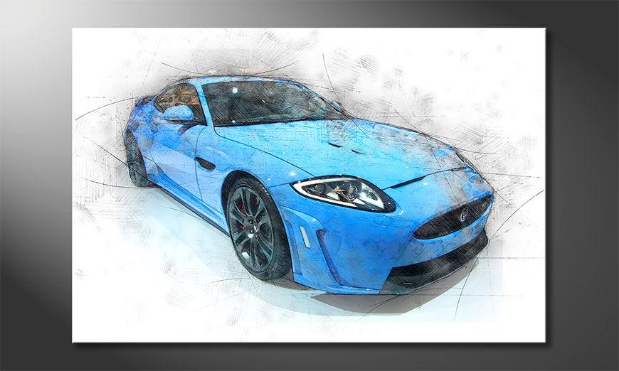 L'impression sur toile Blue Jag