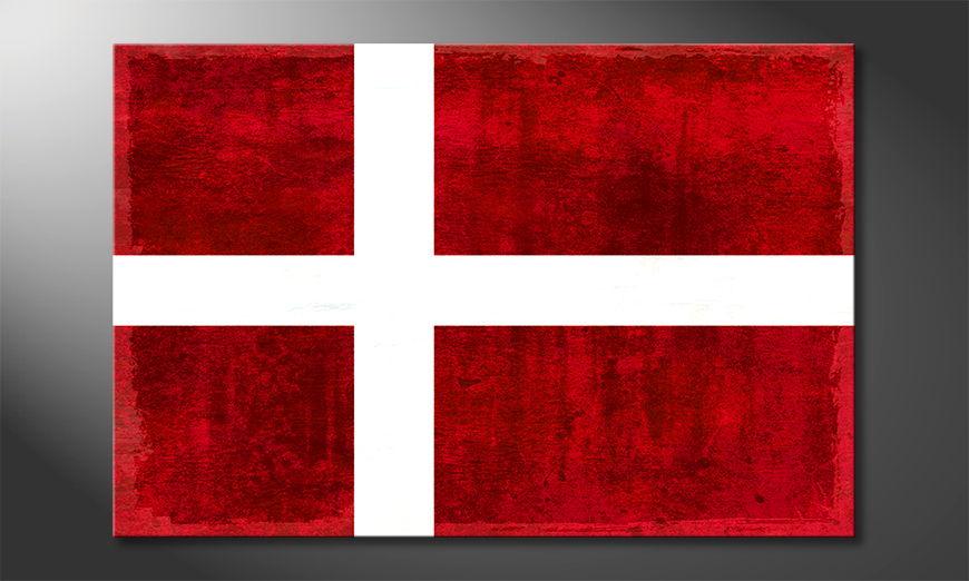 L'impression sur toile Danemark
