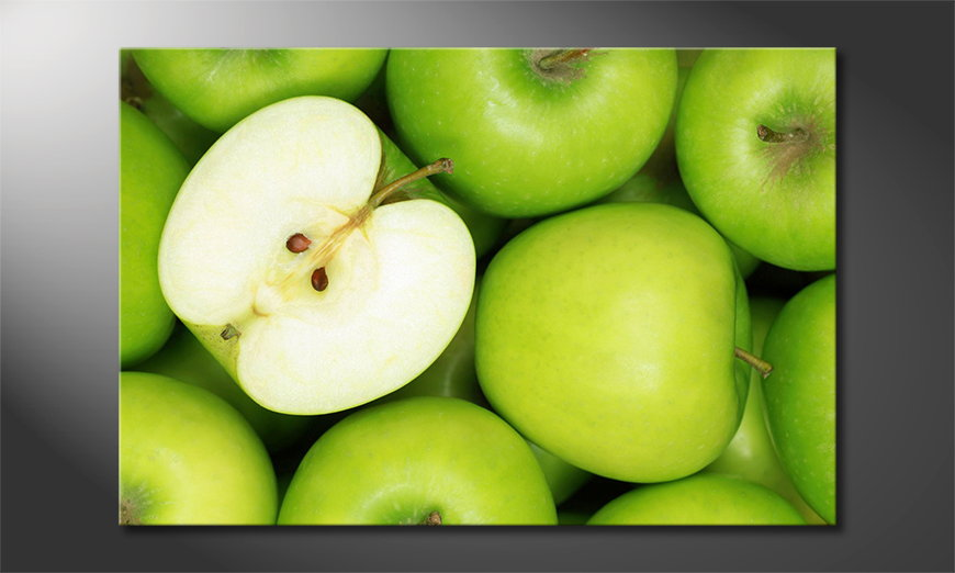 Limpression-sur-toile-Green-Apples