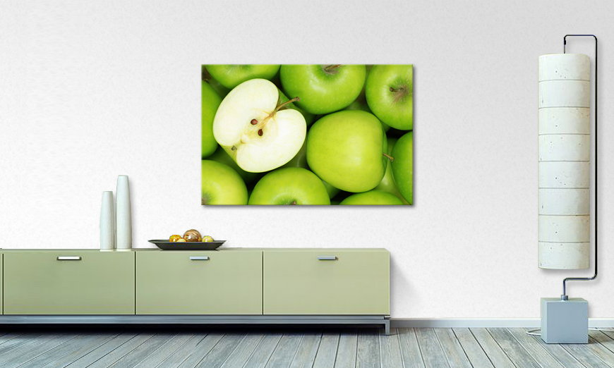 Limpression sur toile Green Apples