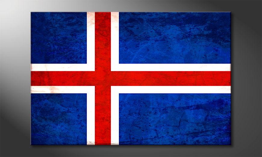 L'impression sur toile Islande