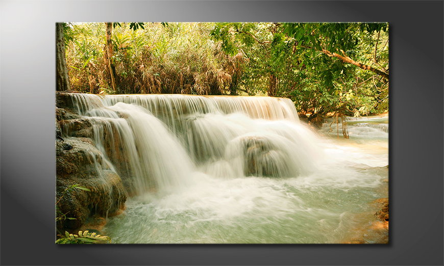 Limpression-sur-toile-Jungle-Waterfall