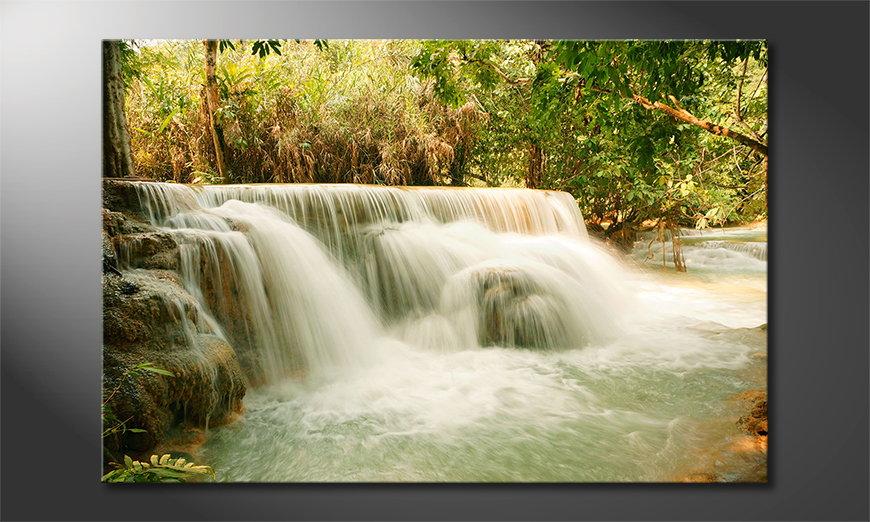 L'impression sur toile Jungle Waterfall
