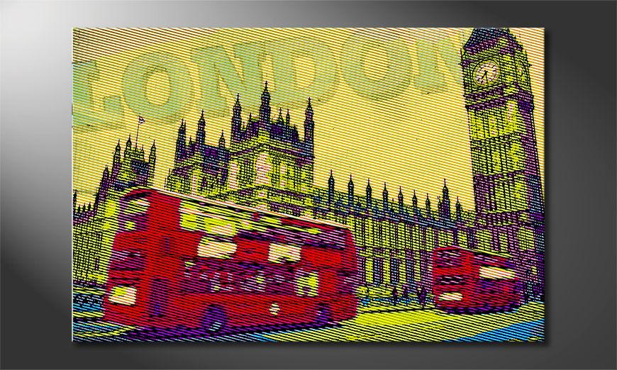 L'impression sur toile Londres