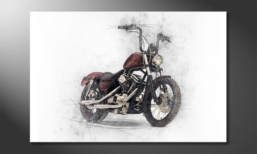 L'impression sur toile Motorbike