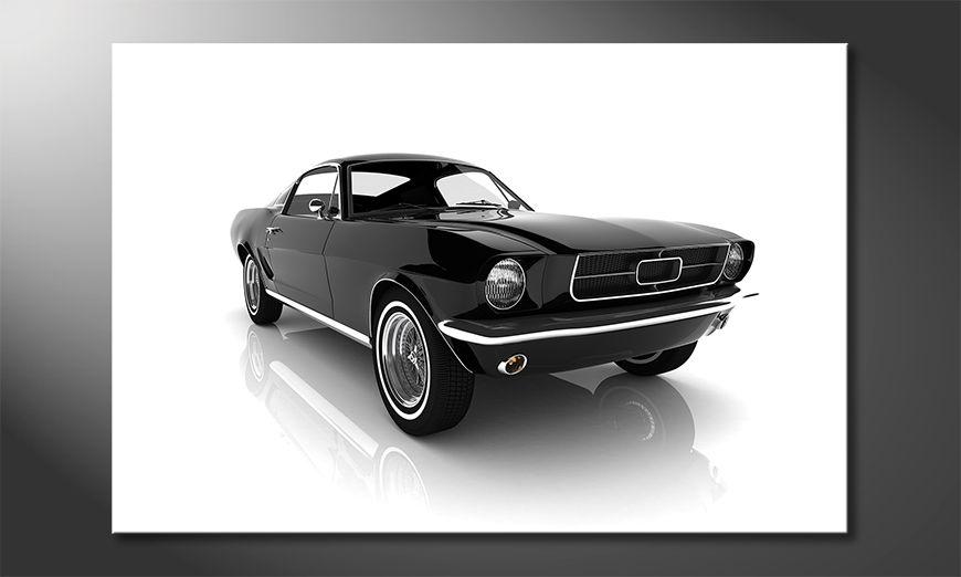 L'impression sur toile Mustang