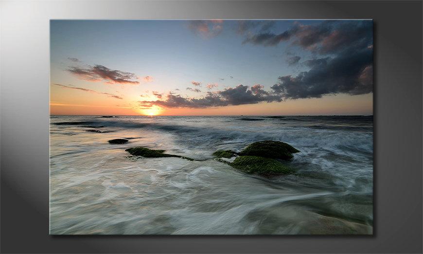 L'impression sur toile Ocean Sunset