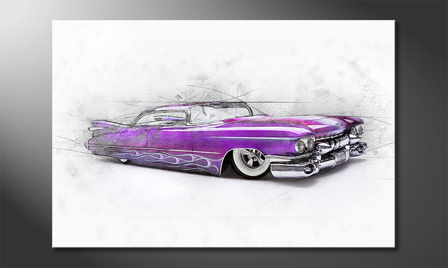 L'impression sur toile Pink Cadillac