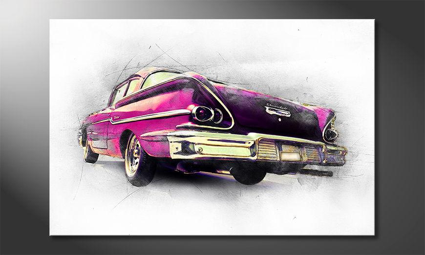 L'impression sur toile Pink Chevrolet