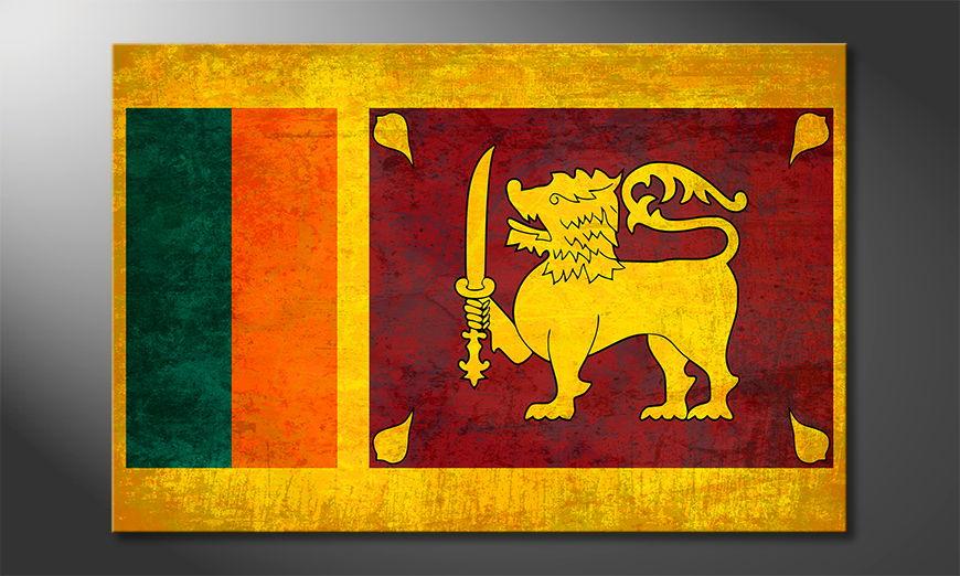 L'impression sur toile Sri lanka