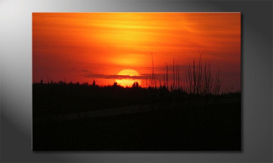 L'impression sur toile Sunset Sky