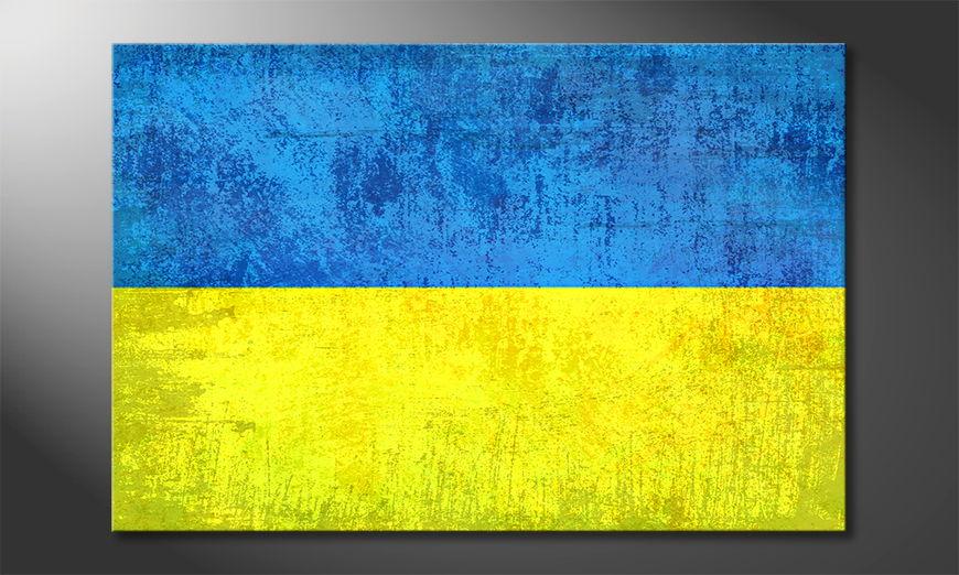 L'impression sur toile Ukraine