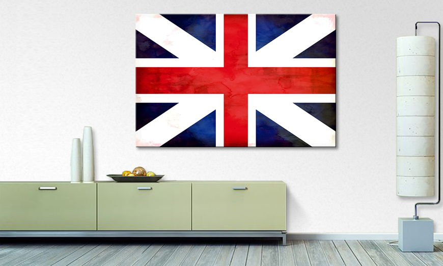 Limpression sur toile Union Jack