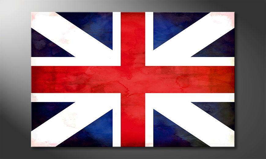 L'impression sur toile Union Jack