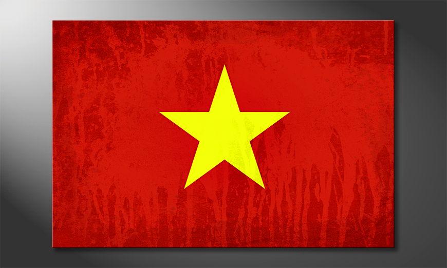 L'impression sur toile Viêt-Nam
